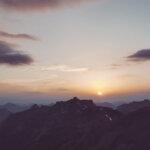 Sonnenuntergang vor der Blüemlisalphütte